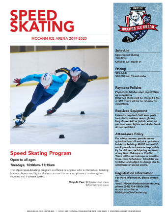 Speed Skating Flyer MHCC